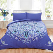 Bohemian Mandala Blue Duvet Set