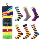 Socksation Mens Luxury Suit Socks Coloured Stripes