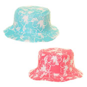 Kids Flower Print Bucket Hat