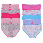 Girls Cats & Ladybugs Briefs