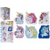 Unicorn Design 2D Shaped Erasers