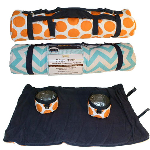 Travel Dog Bed Set With Bowls