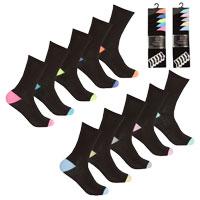 Ladies 5 Pack Heel & Toe Socks Marl