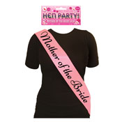 Mother Of The Bride Pink Sash With Black Text