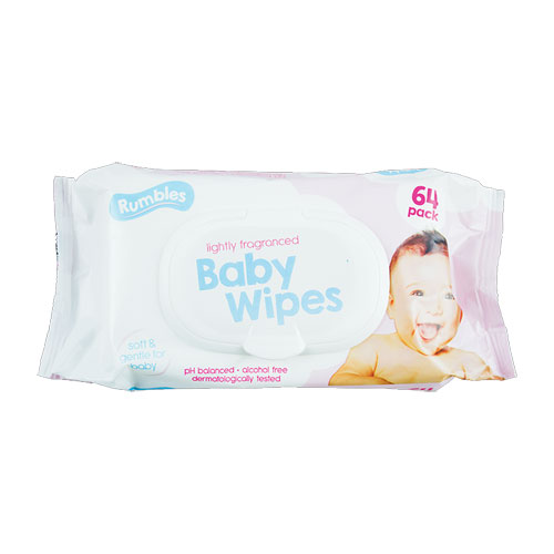 Fragranced Baby Wipes 64 Pack