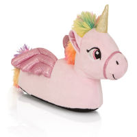 Kids Pink Unicorn 3D Slippers With Wings