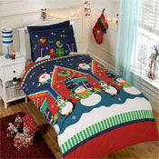 Childrens Christmas Bedding - Santas Grotto