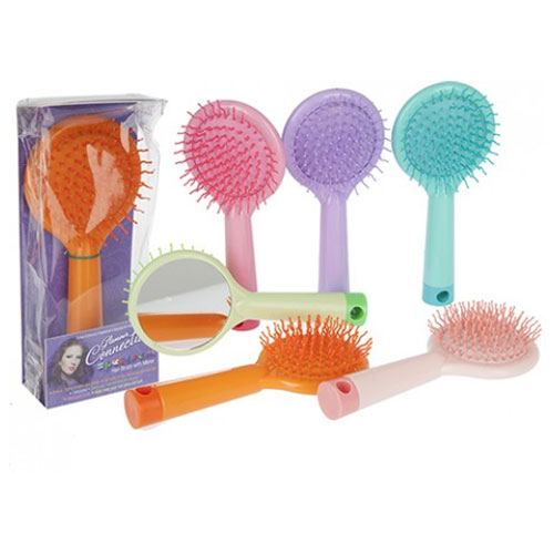 Detangle Hair Brush With Mirror Assorted