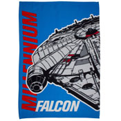 Star Wars Falcon Childrens Character Fleece Blanket Throw