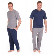 Mens Poly Cotton Lounge Set