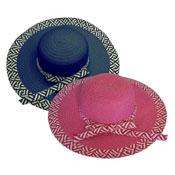 Ladies Banded Wide Hat Brim