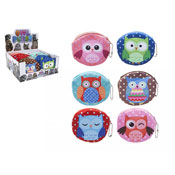 Round Owl Design Purses With Keychain