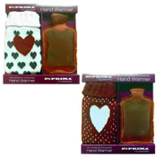 Heart Design Hand Warmer With Knitted Cover