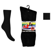 Mens Active Zone 3 Pack Sports Socks Black