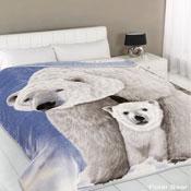 Polar Bear Mink Throw
