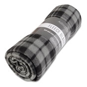 Fleece Blanket Chequered Grey Small