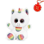 25cm Animotsu Rainbow Sparkle Unicorn Soft Toy