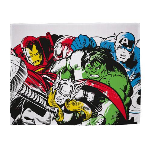 Official Marvel Comics Crop Character Fleece Blanket Throw