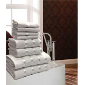 Luxurious Egyptian White 8 Piece Towel Bale