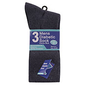 Mens Cotton Diabetic Sock Assorted