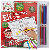 Elf Colouring Book With 8 Mini Pencils
