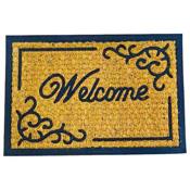 Coir Door Mat Rectangular Classic Welcome