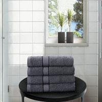 4 Pack Hand Towels Dickens Grey