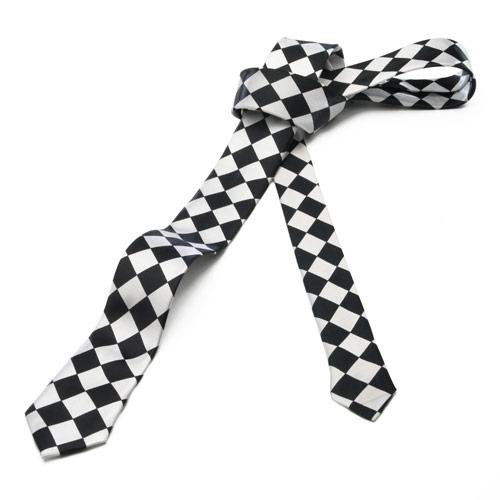 Black & White Diamond Tie