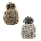 Baby Boys Bobble Hat Ivory/Grey