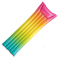 Rainbow Ombre Inflatable Mat