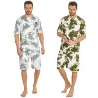 Mens Tie Dye Printed T Shirt And Shorts Set