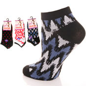 Ladies Trainer Socks Mixed prints