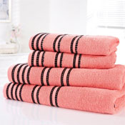 Sirocco Luxury Cotton Bath Sheets Coral