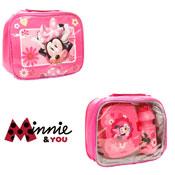 3 Piece Minnie Mouse Lunch Bag Set