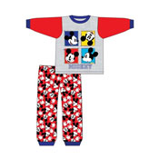 Baby Boys Mickey Mouse Red Snuggle Fit PJs