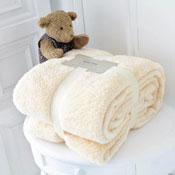 Supersoft Snug Teddy Throw Cream