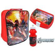 Avengers & Captain America Lunch Bag Set 3 Piece