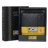 JCB Black Leather Zipped Wallet RFID Secure