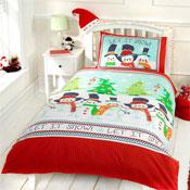 Childrens Christmas Bedding - Snowman Friends