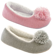 Kids Knit Ballet with Lurex Thread Slipper