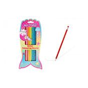 8 Glitter Coloured Pencils