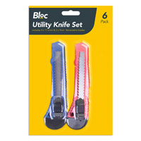 Bloc Utility Knife Set 6 Pack