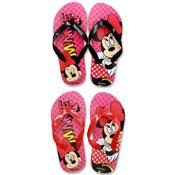 Official Girls Minnie Mouse Flip Flops