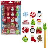 20 Piece Christmas Eraser And Topper Set
