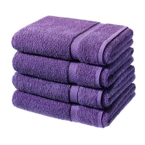 Luxury Cotton Bath Sheet Aubergine