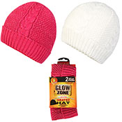 Ladies Hat With Heat 2x Packs Assorted