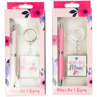Mothers Day Pen And Keyring Gift Set