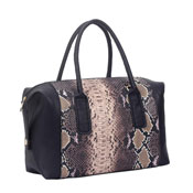 Ladies Layla Snake Print Handbag Black