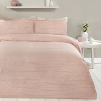 Super Soft Crinkle Duvet Set Blush