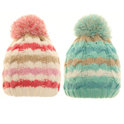 Babies Stripey Bobble Hat
